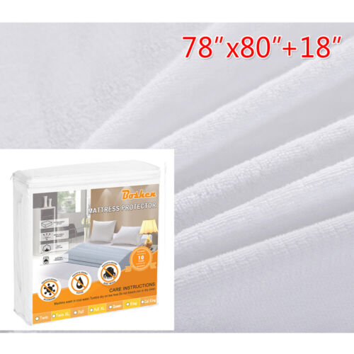 Mattress Cover Protector Waterproof Terry Towel Fitted Bedding Sheet Bed Pad