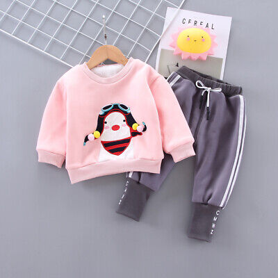 Toddler Baby Girls Outfits Winter Clothes Infant Kids Girl Casual Tops+Trousers