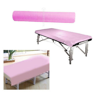 50-Pcs-Roll-Disposable-Bed-Sheets-for-Beauty-amp-Massage-Salons-Non-Woven-Pink