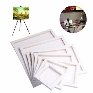 White-Blank-Square-Canvas-Board-Wooden-Frame-For-Art-Artist-Oil-Acrylic-Paints