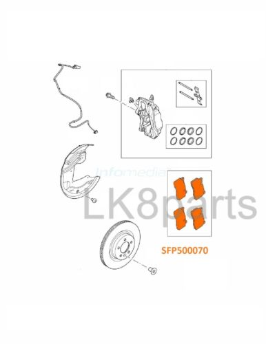 LAND ROVER RANGE SUPERCHARGED RR SPORT SC 06-09 FRONT BRAKE PADS SFP500070 NEW