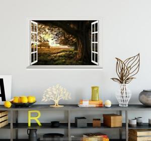 3D Mead Tree 4029 Open Windows WallPaper Murals Wall Print Decal Deco AJ Summer