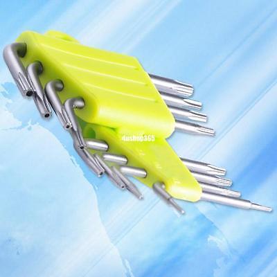 8pcs set torx crv key star wrench tool screwdriver t5 t6 t7 t8 t9 t10 t15 t20