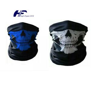3pcs Ghost Biker SKULL FACE MASK Motorcycle Ski Balaclava Hood CS Sport Helmet