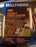 Walthers Cornerstone Series Kit HO Scale Full Set Asphalt Street System - 00616374039562 Toys