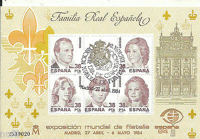 Spain  Edifil # 2754 ** MNH Expo Filatelica ESPAÑA 84 Familia Real