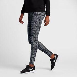 ee637296205a1 New Nike Women's Sportswear Leg-A-See Leggings (805537-091) Carbon ...