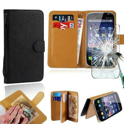 best loved 46d2b 17629 Leather Wallet Case+Tempered Glass Screen Protector For SWEES Android  Smartphone | eBay