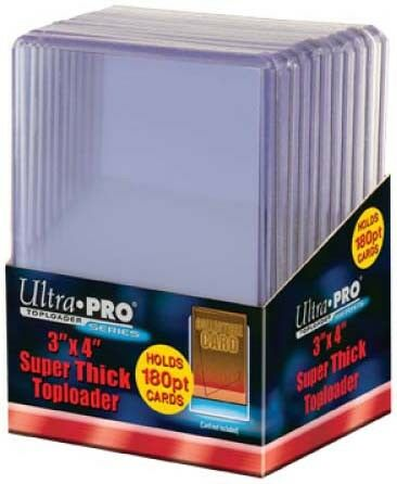 """Toploader Super Thick 3/"""" X 4/"""" 180 Point 10ct Ultra Pro GAMING SUPPLY BRAND NEW"""
