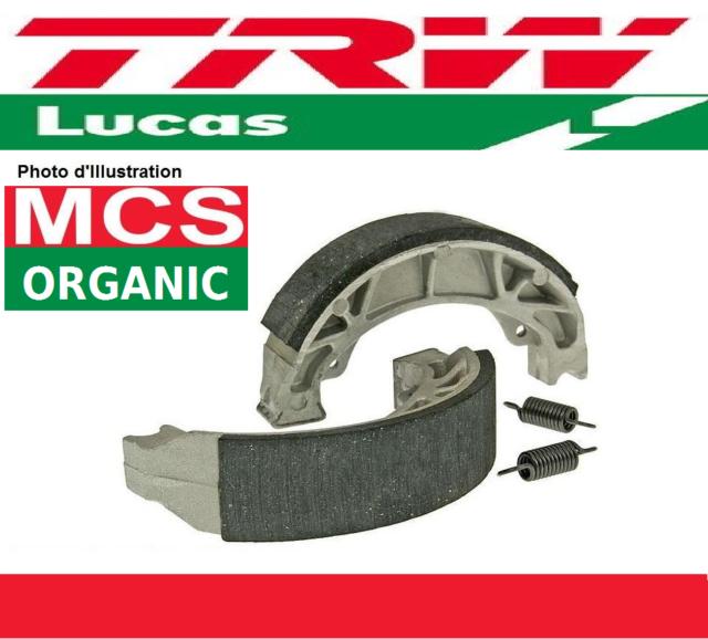 Jeu 2 Mâchoires de frein Avant TRW Lucas MCS827 Honda NB 50 M (AB07) 84->