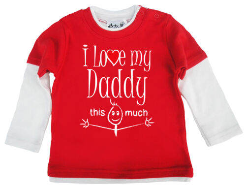 """Baby Skater Top /""""I Love My Daddy this Much/"""" Long Sleeved Tee Father Day Gift"""