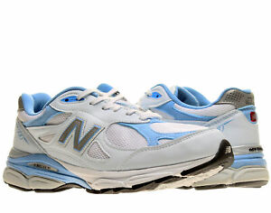 quality design 755f9 fa280 Details about New Balance 990v3 White/Blue Women's Running Shoes W990WB3