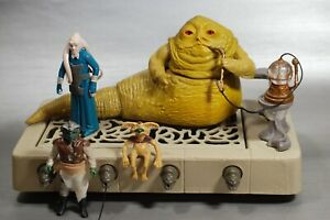 VINTAGE-Star-Wars-COMPLETE-JABBA-THE-HUTT-PLAYSET-FIGURES-LOT-play-set