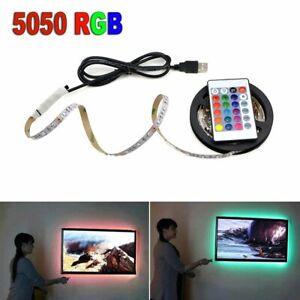TV-Computer-Backlight-5V-USB-LED-strip-Light-5050-RBG-Background-Lighting-3FT-1M