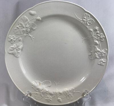 Minton/'s 18th Century Staffordshire Strawberry Salad Plate Salt Glaze Antique