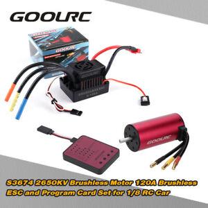 US-GoolRC-1-8-Car-S3674-2650KV-Brushless-Motor-120A-ESC-Programming-Card-T7Y9