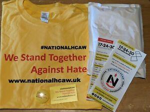 National Hate Crime Awareness Week - We Stand Together t-shirt + Badge Set 2020