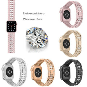 Rhinestone-Stainless-Steel-Watch-Wrist-Band-Strap-For-Apple-Watch-38-42-mm