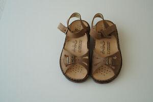 FINN-COMFORT-Elba-Sommer-Schuhe-Sandale-Leder-mit-Einlagen-Gr-36-Nubuk-Braun-NEU