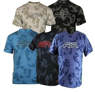 New Nike Air logo Mens Cotton T-Shirt  S M L XL  5 Colours  vintage *STUNNING*