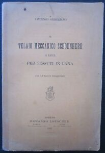 1887 TELAIO MECCANICO SCHOENHERR A LICCI PER TESSUTI IN LANA Ormezzano