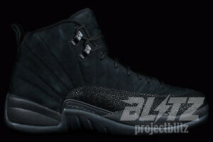 5a20314b60c6 Air Jordan 12 Retro OVO Size 7.5-13 BLACK METALLIC GOLD 873864-032 ...