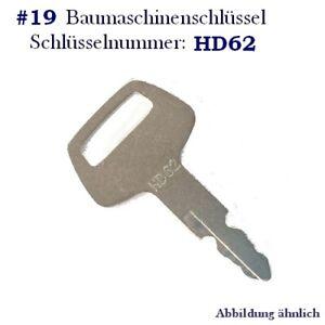 202 VOLVO Baumaschinen Schlüssel Minibagger Zündschlüssel usw Radlader #18 Nr