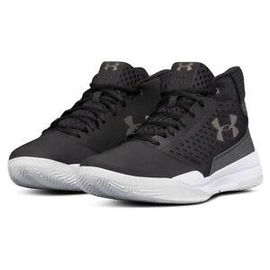 f3cc59ea0ed Under Armour Mens UA Jet Mid Basketball Shoe Black White Sports ...