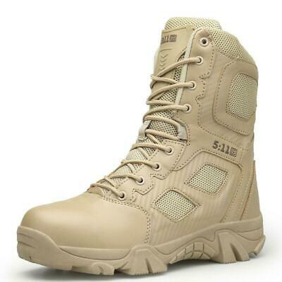 Men's High Top Shoes Military Tactical Desert Ankle Boots SWAT Combat Boots  5AA | eBay