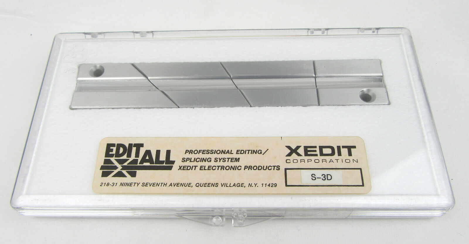 EDITALL S-3D Splicing Block for 1 4in Audio Tape - New, Free Shipping
