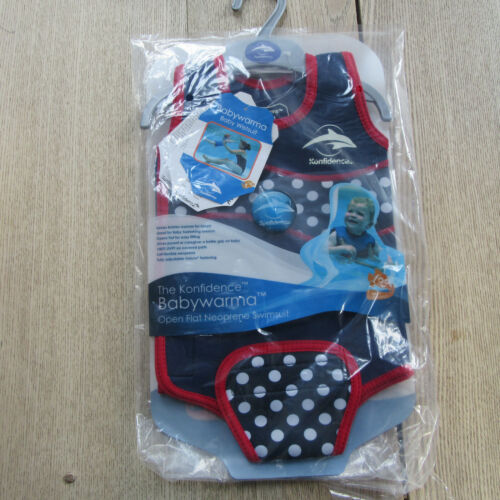 Babywarmer Size: 6-12 Months. Polka Navy Wetsuit The Konfidence