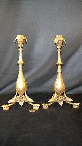 paire-de-bougeoir-bronze-XIXeme-signes-CAIN-style-antique