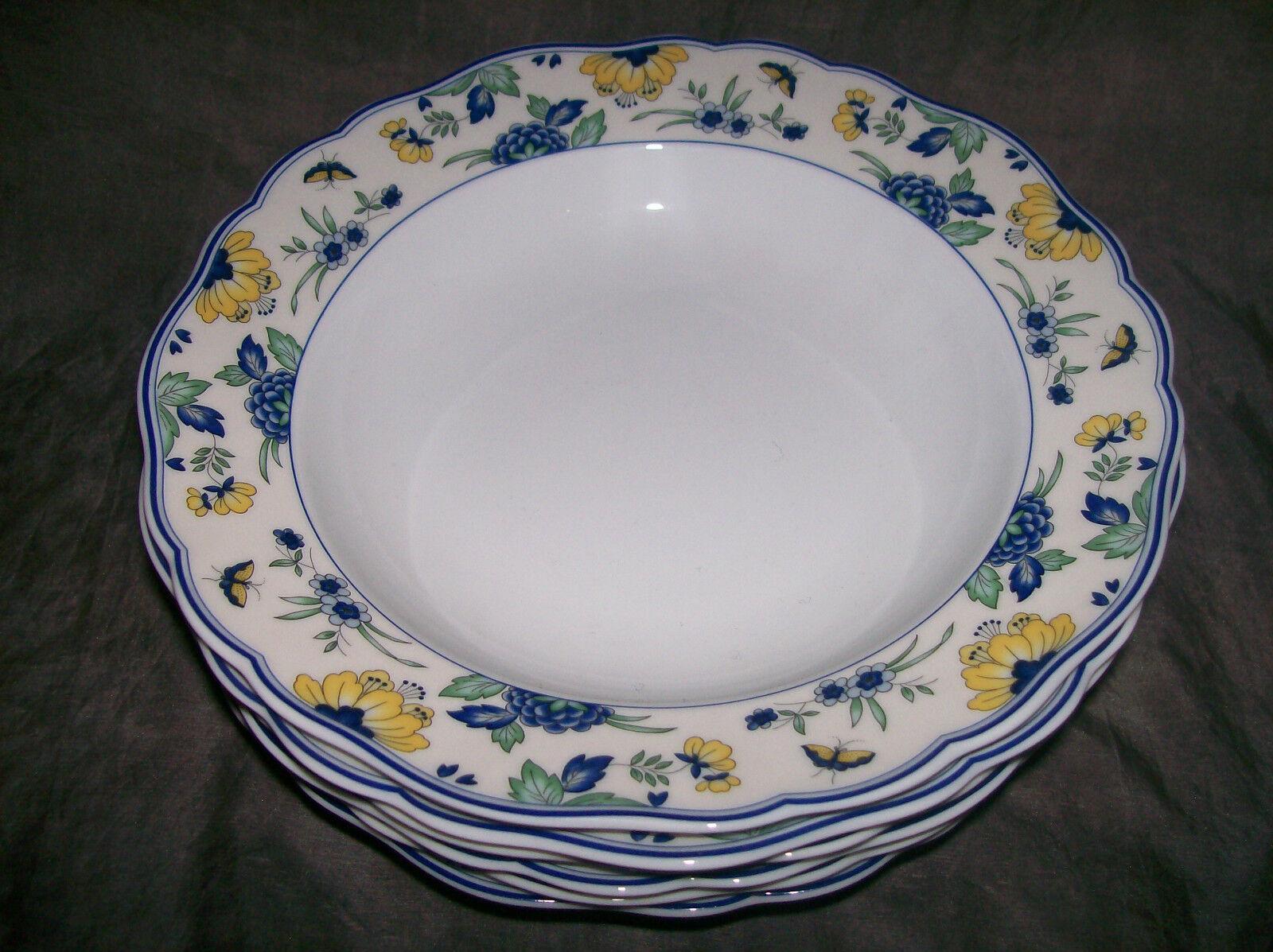 Hutschenreuther Marie-Thérèse 6 X Papillon assiettes à soupe 23 cm  1 A article neuf