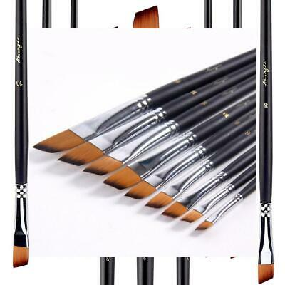 Flat Tipped Brushes for Acrylic Oil Watercolor by Amagic 6 Pcs Artist Face and Body Professional Painting Kits with Hog Bristle Tips