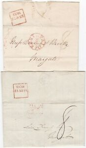 1832-3-2-x-RED-BOXED-LATE-FEE-PMKS-LONDON-PAID-amp-UNPAID-gt-DERING-AT-MARGATE-KENT