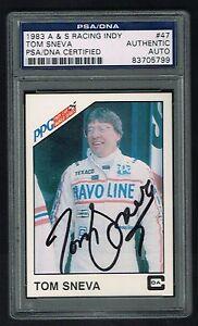 Sports Mem, Cards & Fan Shop Frank Tom Sneva 1983a & S Carreras Ppg Indy Firmado Autógrafo Carta Psa O Reliable Performance