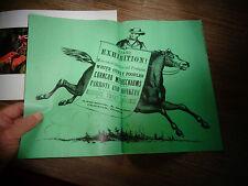 "Ancienne Affiche ""Grand Exhibition"" Cirque : Cavalier du Far West"
