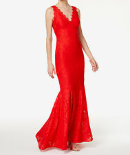 Betsy & Adam New Lace V-Neck Mermaid Gown Size 6 MSRP $269 #DN 1320
