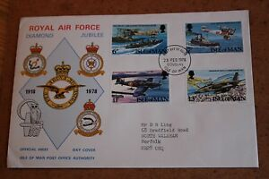 Royal-Air-Force-Diamond-Jubilee-Isle-of-Man-First-Day-Cover-1978