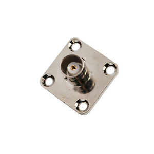 5X-BNC-female-4-Hole-Panel-Mount-Jack-with-solder-cup-wide-flange-RF-Connector