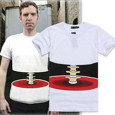 Men/Women's Half Body Stereo Bone Printed Funny Cotton Short Sleeve T-shirt