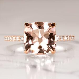 2-6c-CUSHION-PINK-PEACH-MORGANITE-NATURAL-DIAMOND-ENGAGEMENT-RING-PAVE-ROSE-GOLD