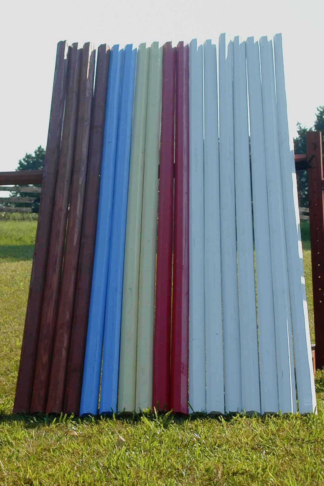 Horse Jumps Mix & Match 10ft colord  CUT Wood Rails - color Choice  sale online discount low price