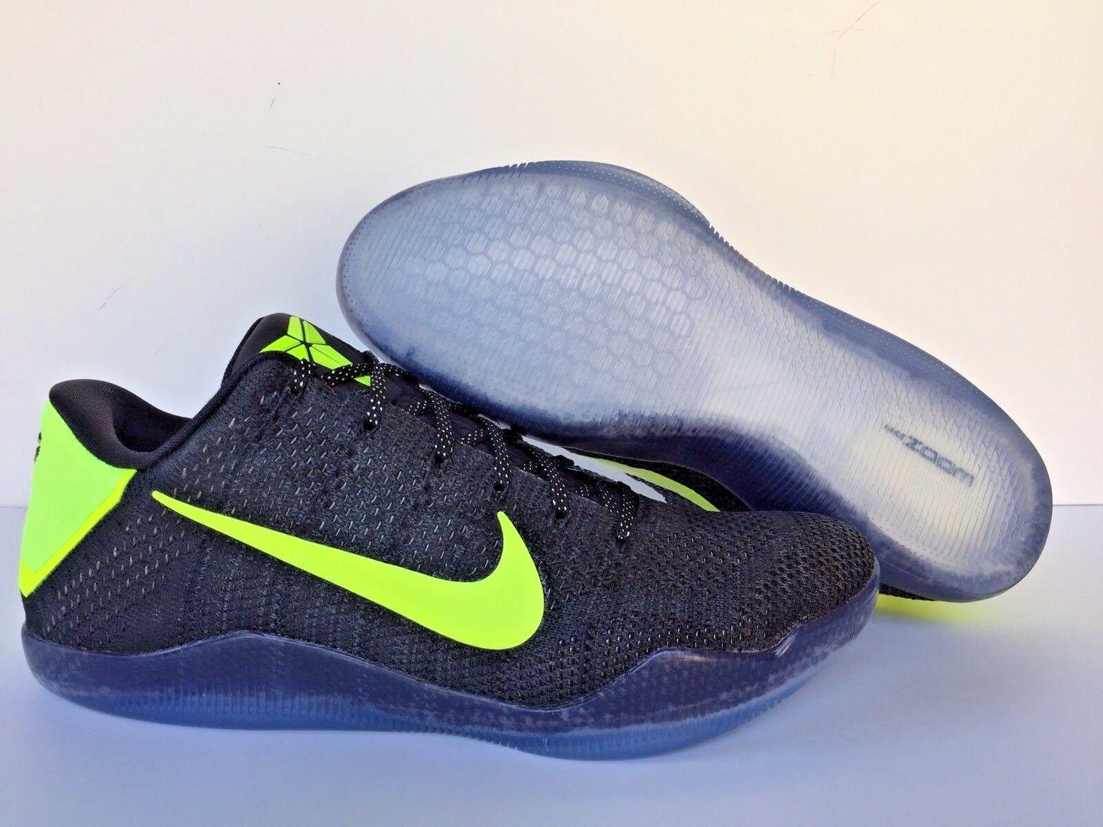 Nike kobe xi elite flyknit id basso nero / verde Uomo sz - 903710-992]