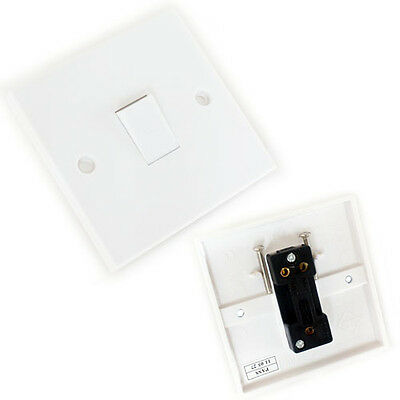 5x Single Wall Light Switch 1 Gang 2 Way Uk 240v 10a Lamp Outlet Face Plate 5055538123962 Ebay