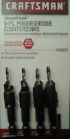 Genuine Craftsman 5 Pc Power Groove Countersinks Set, 4 Countersinks + Hex Key