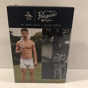 ORIGINAL PENGUIN Mens Mens Cotton Stretch Boxer Briefs 3 Pk Boxer Briefs