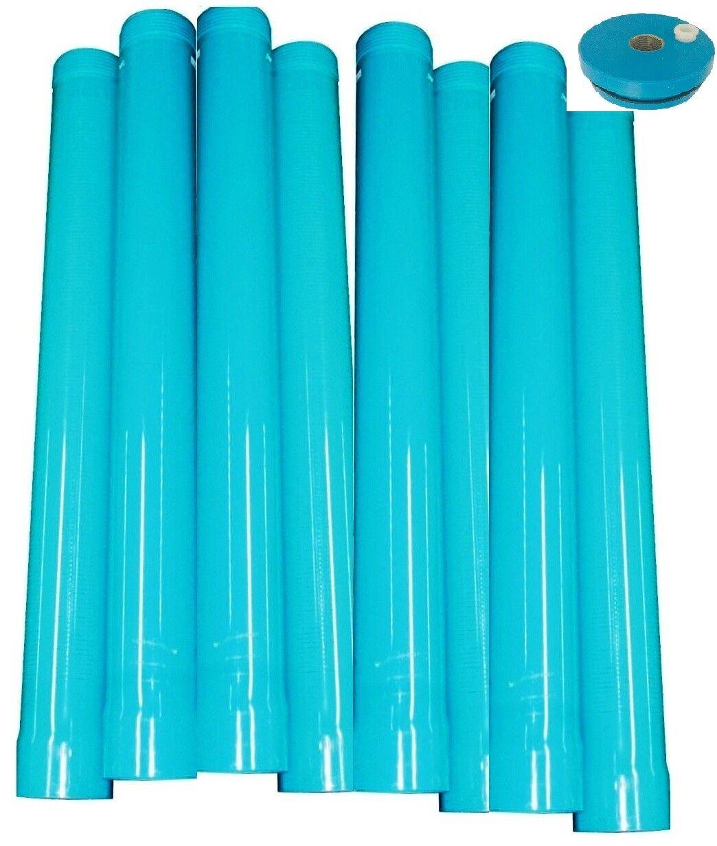 8 m Brunnenrohr Set mit Filterrohr DN100  und Brunnendeckel 4