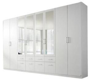 Kleiderschrank Flora Weiss 8 Trg B 360 H 229 Jugend Schlafzimmer Spiegelturen Ebay