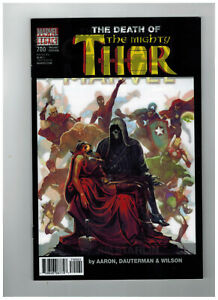 MIGHTY-THOR-700-LENTICULAR-VARIANT-COVER-NMT-1ST-PRINT-DEATH-OF-CAPTAIN-MARVEL